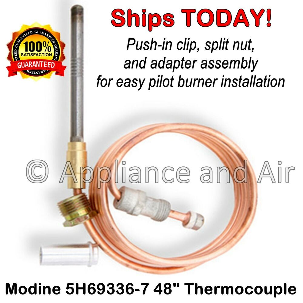 Modine Hot Dawg Heater 5h69336 7 48 Thermocouple Standing Pilot Heaters Wiring Diagram For Pd Instr Ebay