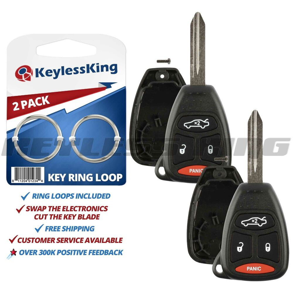 2 Replacement Remote Key Fob Shell Pad Case For 2005 2006