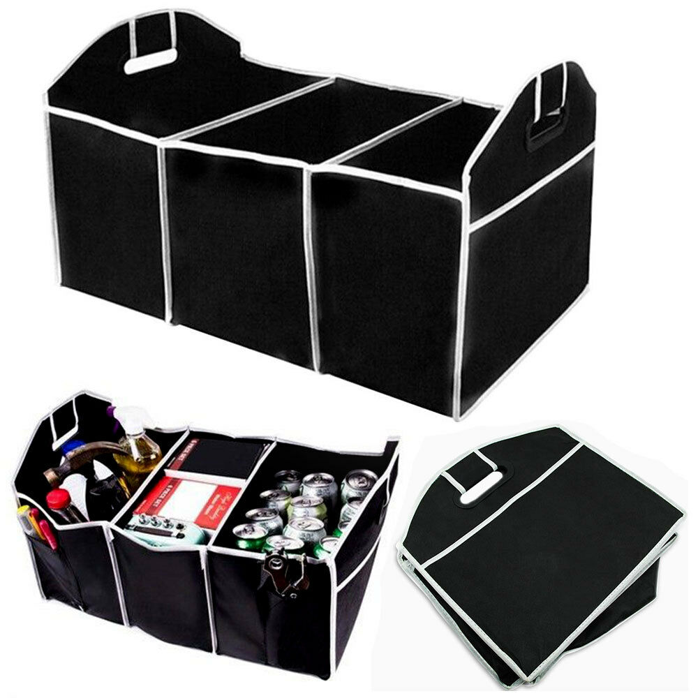 Extra Large Car Auto Trunk Organizer With  Compartments