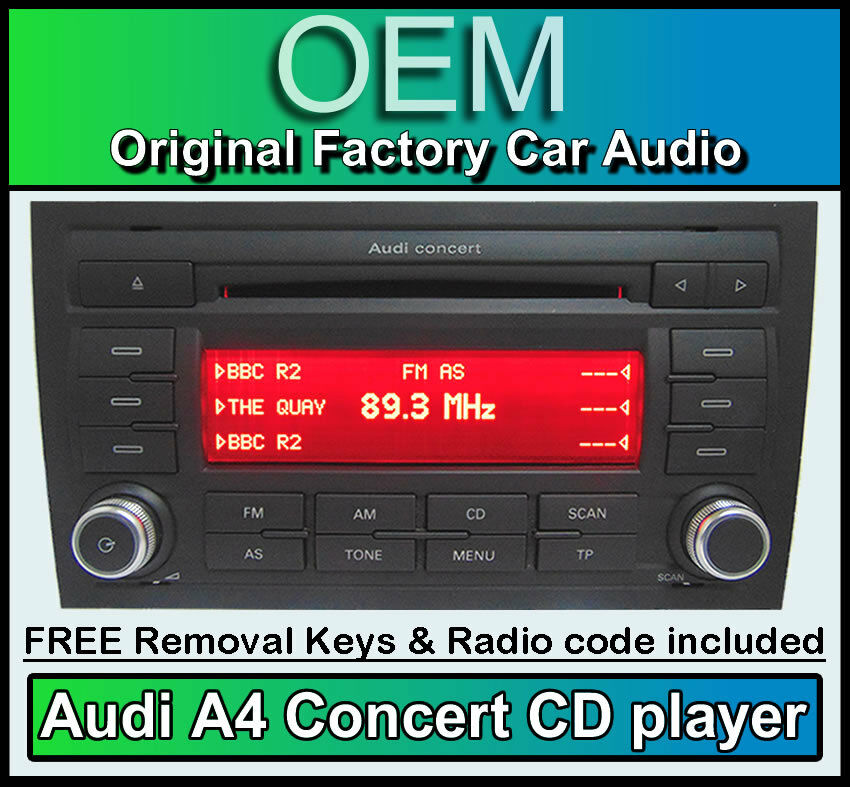 audi a4 cd mp3 player audi concert car stereo head unit. Black Bedroom Furniture Sets. Home Design Ideas