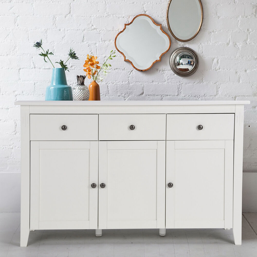 modern design high gloss white cabinet sideboard cupboard buffet 6 drawers ebay. Black Bedroom Furniture Sets. Home Design Ideas