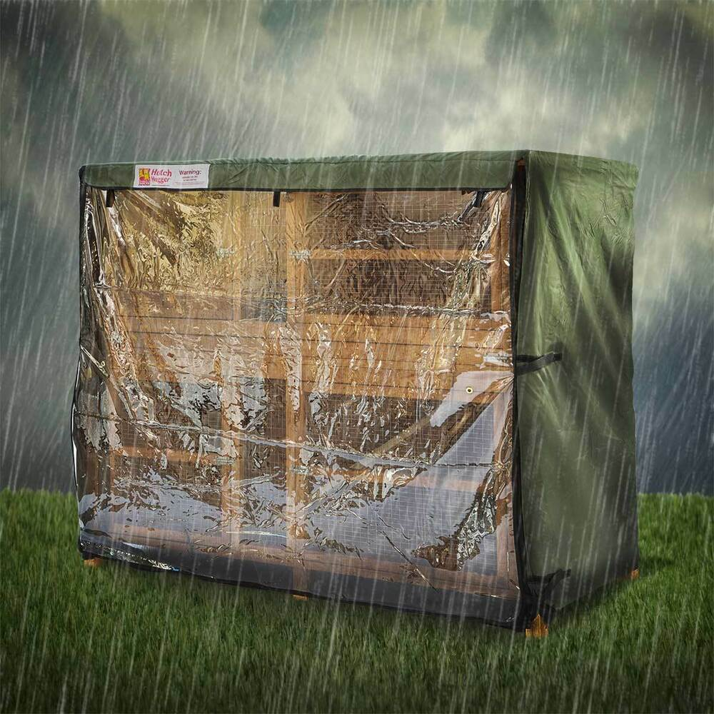 6ft double rabbit hutch hugger rain cover scratch and for How to make a rabbit hutch from scratch