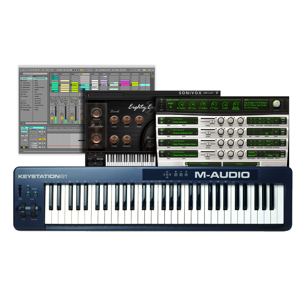 m audio keystation 61 mk2 61 key usb midi keyboard controller air xpand 2 ebay. Black Bedroom Furniture Sets. Home Design Ideas