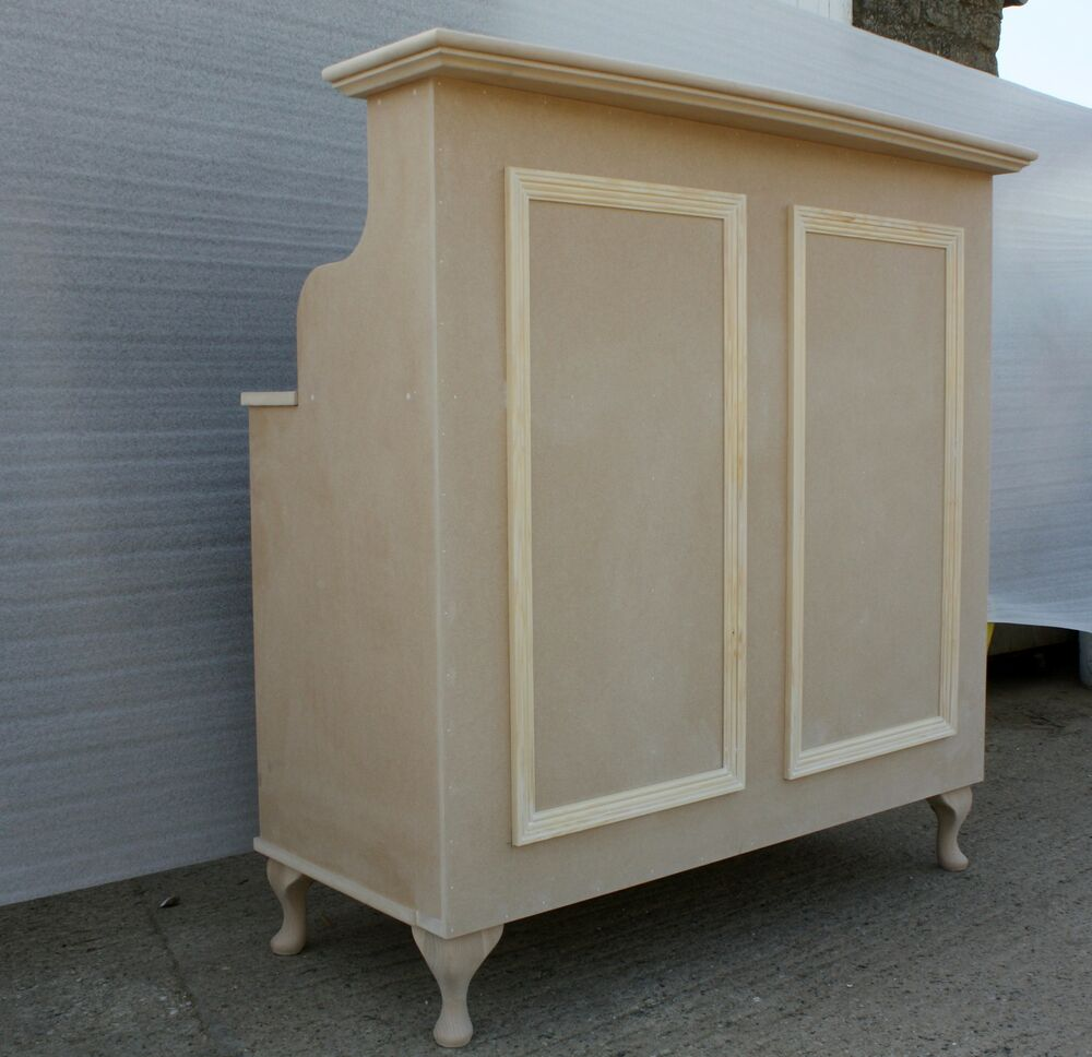 Raw mdf reception desk cash desk salon retail for Salon style shabby chic