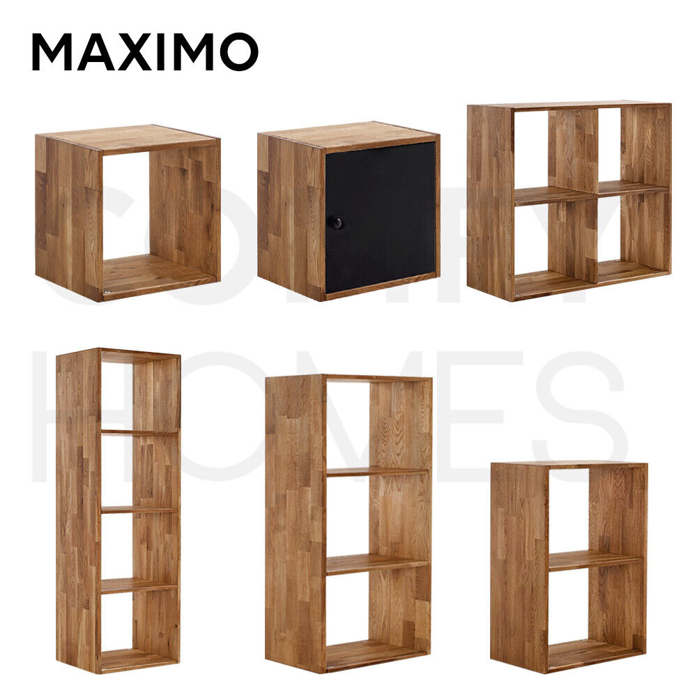 Solid Oak Shelf Storage Box Shelves Display Shelving Unit