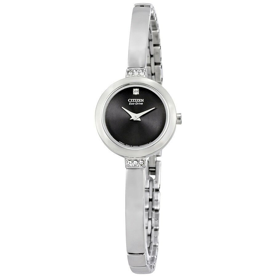 Citizen Eco Drive Women S Ew9920 50e Crystal Accents Black