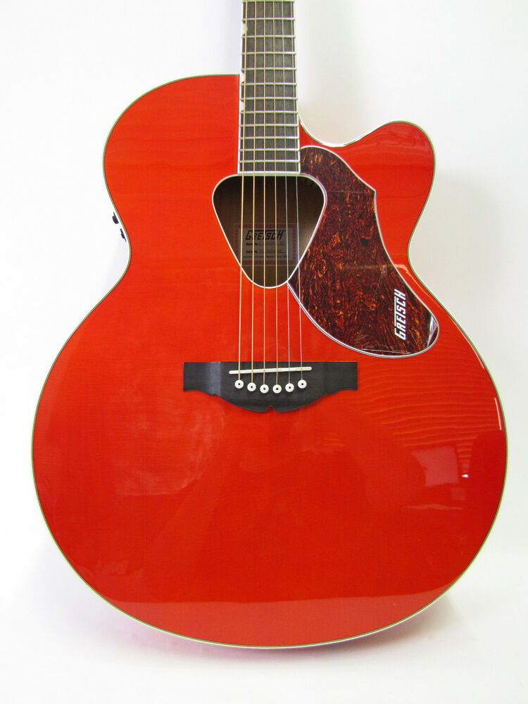 gretsch g5022ce jumbo rancher acoustic electric orange guitar fishman pickup new ebay. Black Bedroom Furniture Sets. Home Design Ideas