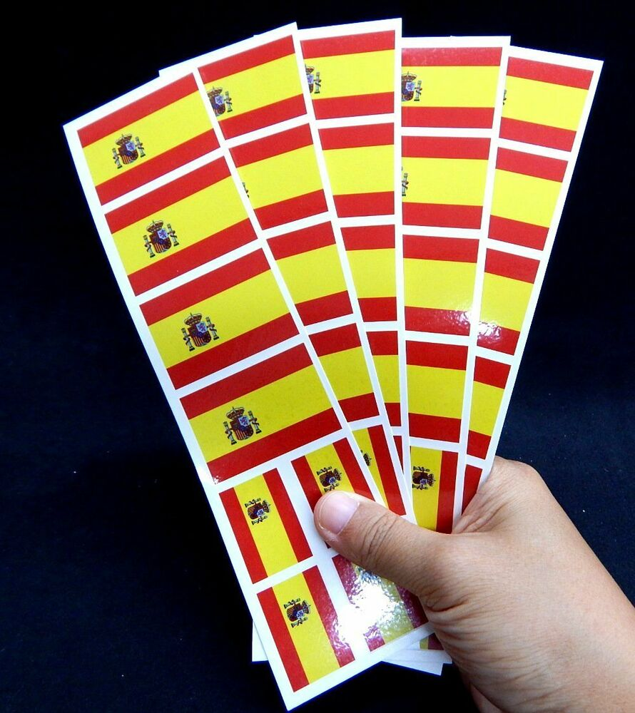 Details about 40 tattoos spanish flag spain party favors