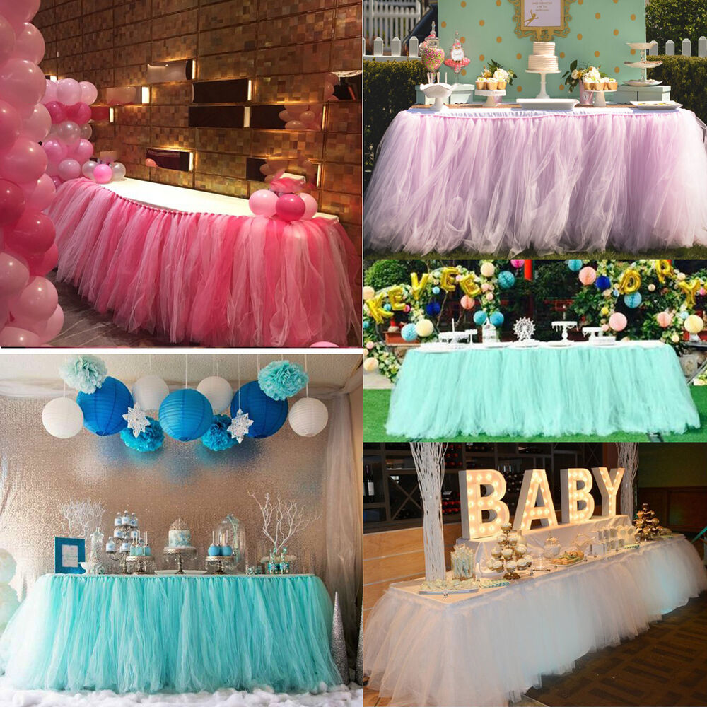 Tulle Tutu Table Skirt For Wedding Party Birthday Baby