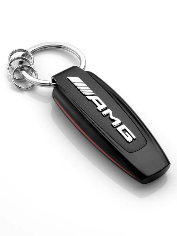 Genuine mercedes benz amg stainless steel carbon fibre for Mercedes benz keychains