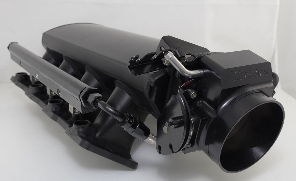 Metal Black Ls1 Intake With Fuel Rails Amp Throttle Body