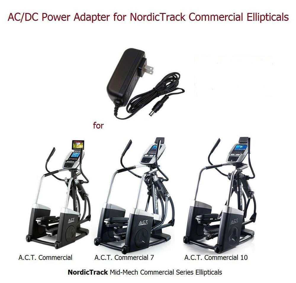 AC Power Adapter For NordicTrack Commercail Ellipticals A