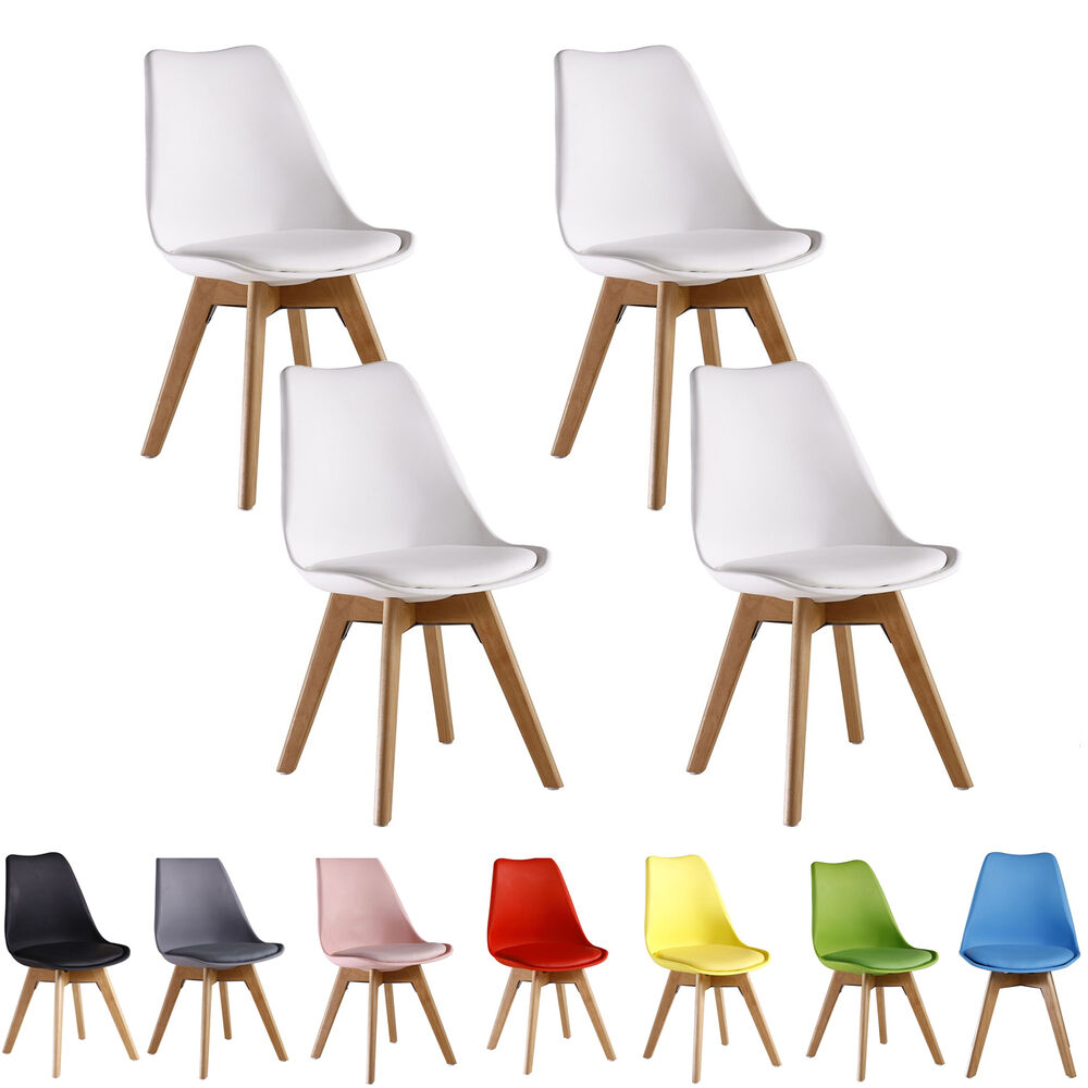 Set of 4 tulip jamie lorenzo dining chair eiffel inspired for 4 x dining room chairs