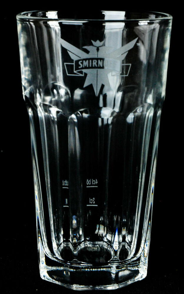 smirnoff vodka glas gl ser harley cocktailglas kleines wei es emblem ebay. Black Bedroom Furniture Sets. Home Design Ideas