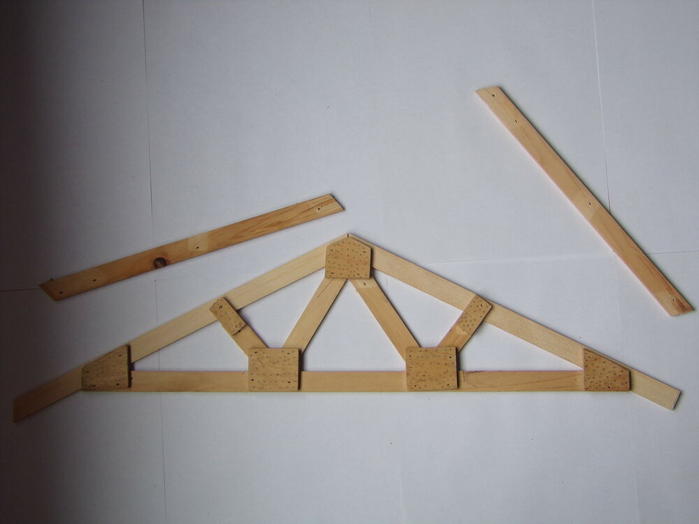 Roof truss plans how to build make your own exact custom for Where to buy trusses