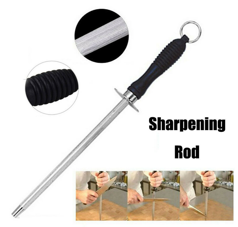 where to get kitchen knives sharpened sharpening steel rod stick kitchen knife sharpener for butcher cutlery tool hone ebay 3198