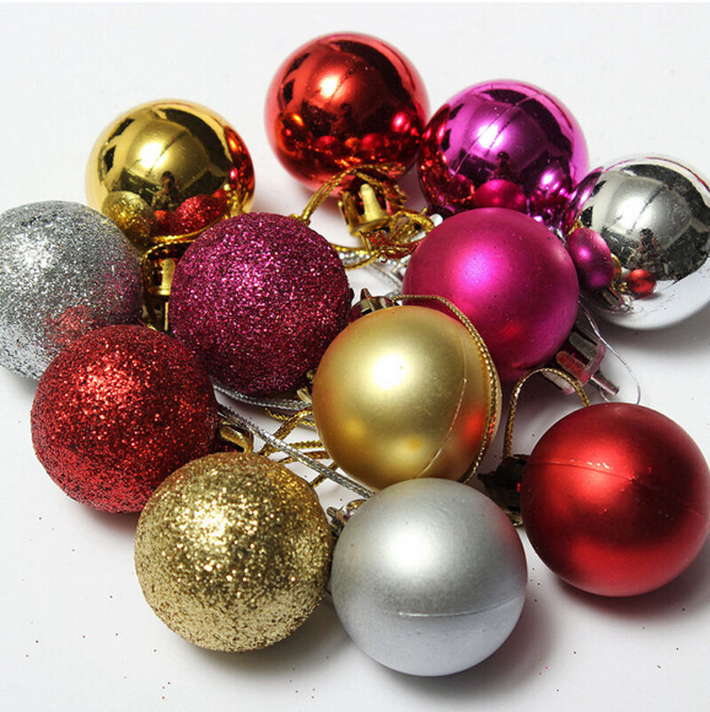 24x christmas tree decor ball bauble hanging xmas party for Christmas decoration stuff