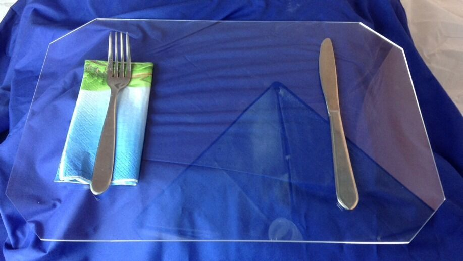 Clear Acrylic Lucite Plexiglass Protector Placemat Ebay
