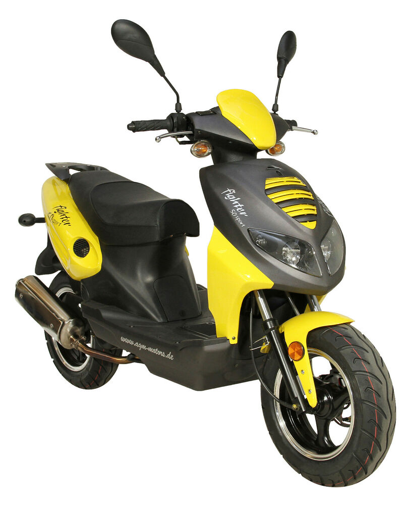 fighter 50 moped roller 50ccm scooter 45 km h 2t. Black Bedroom Furniture Sets. Home Design Ideas