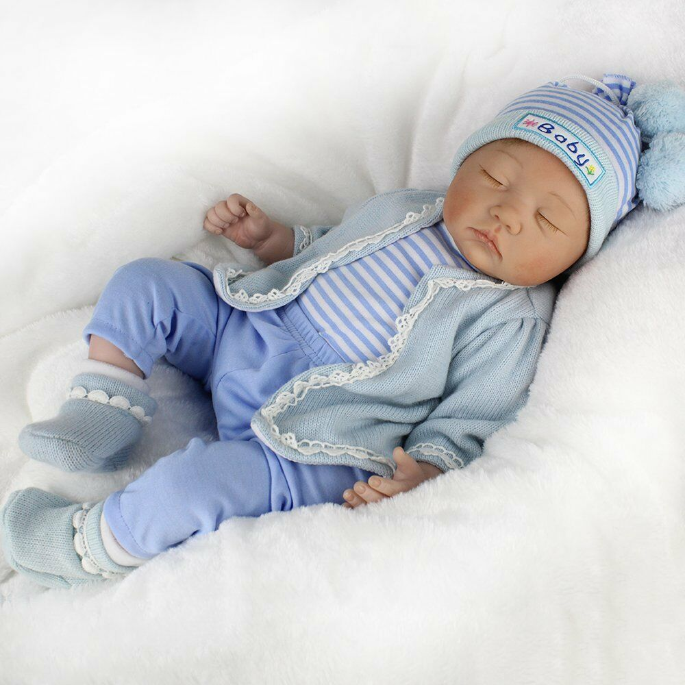 Realistic Reborn Baby Doll Floppy Hair Lifelike Newborn
