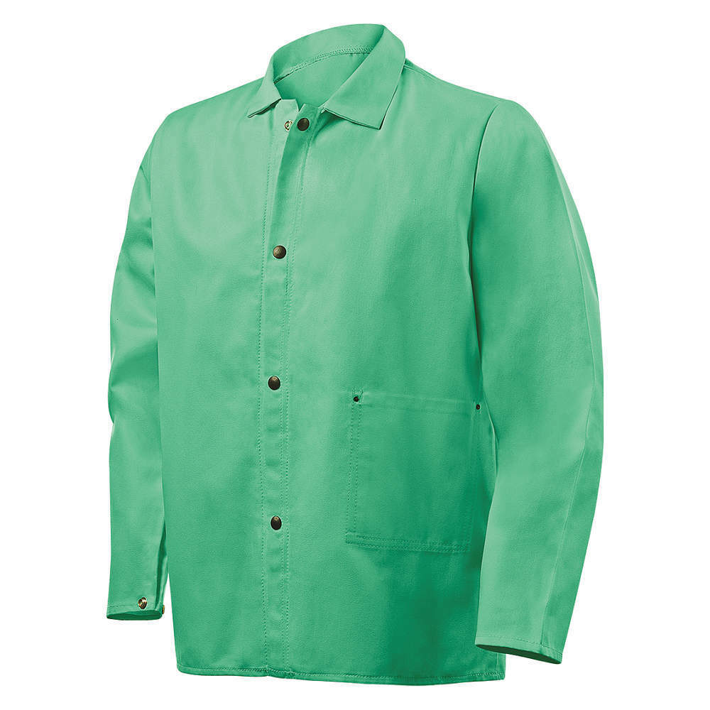 welding jacket green fr 9oz cotton size medium ebay. Black Bedroom Furniture Sets. Home Design Ideas