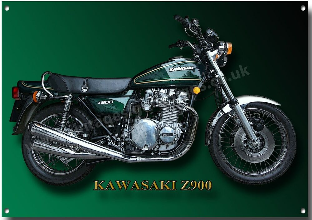 kawasaki z900 luftgek hlt vier zylinder motorrad metall. Black Bedroom Furniture Sets. Home Design Ideas