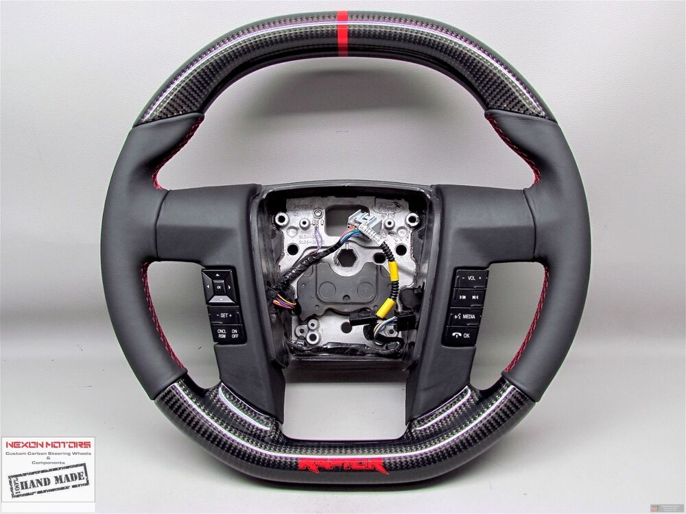 F150 Custom Parts >> Ford Raptor F150 SVT FLAT TOP BOTTOM Napa Custom Thicker CARBON Steering WHEEL | eBay