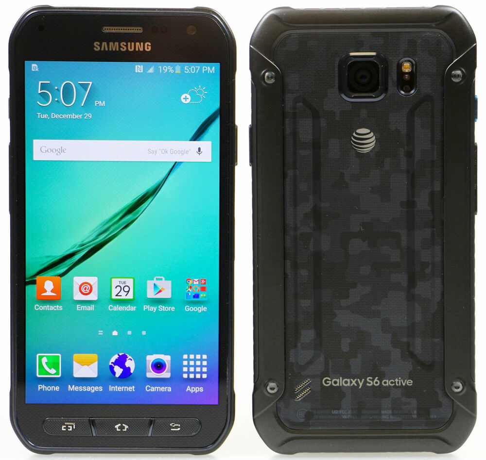 samsung galaxy s6 active sm g890a camo blue at t unlocked 32gb android 4g lte ebay. Black Bedroom Furniture Sets. Home Design Ideas