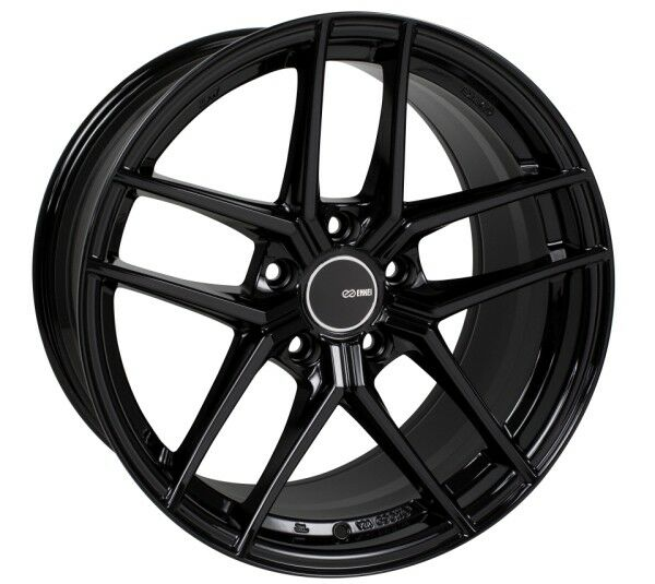 18x8 5 Enkei Ty5 5x120 38 Gloss Black Rims Fits Bmw 325i 328i 330i
