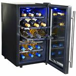 NewAir AW-181E Space Saver 18 Bottle Thermoelectric Wine Cooler, Stainless