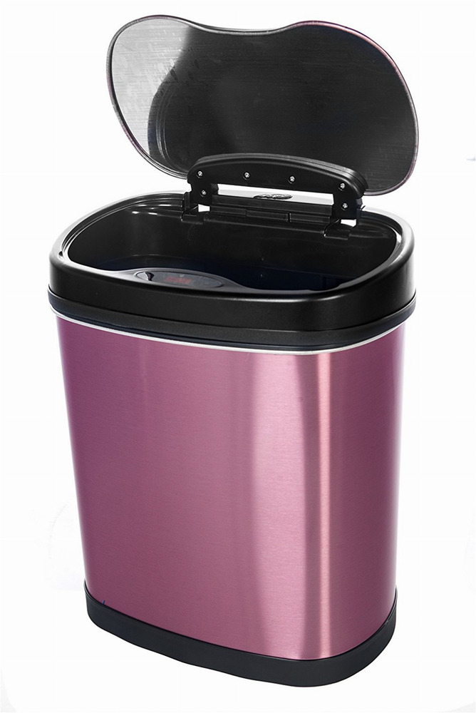 Can Trash Touchless Infrared Wastebasket Stainless Steel