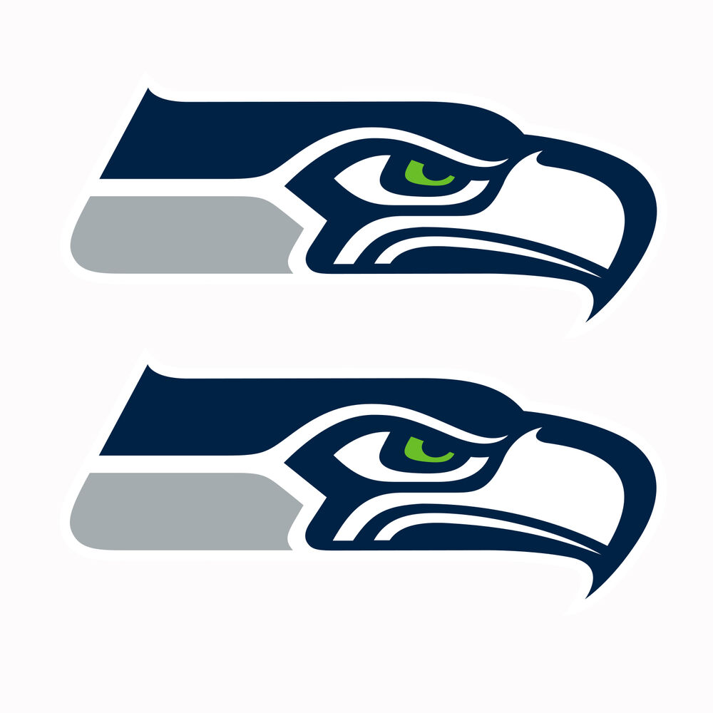 Details about Set of 2 Seattle Seahawks Decals NEW