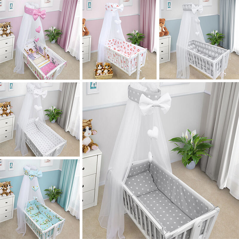 CRIB BABY BEDDING SET CRADLE PILLOW DUVET CANOPY COVER ...