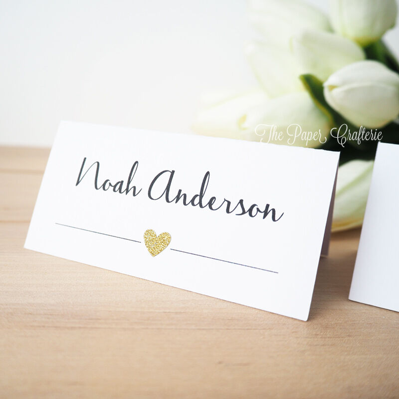 Wedding place cards personalised name cards guest list for Place card for wedding