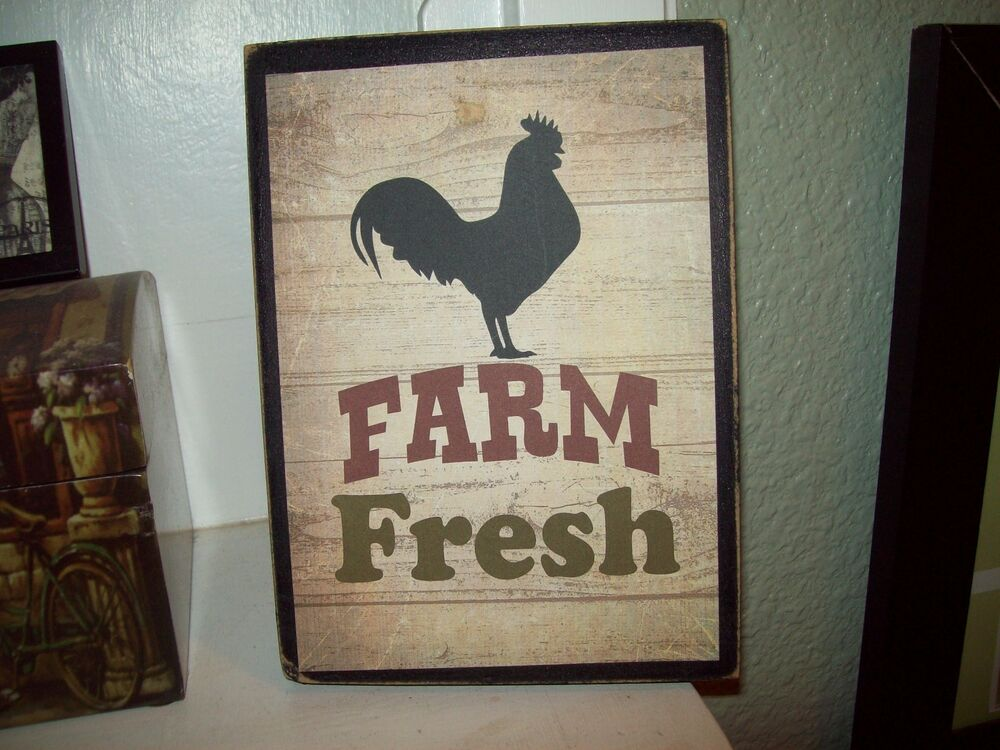 Farm Fresh sign Kitchen wall decor French Country Farmhouse Rustic Cottage