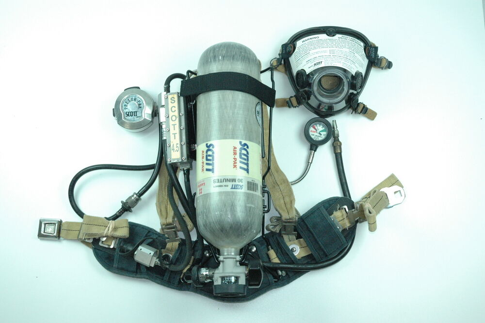 Scott 4 5 Wireframe Scba Overhauled W  Supplied Air Connection  U0026 Quick Fill