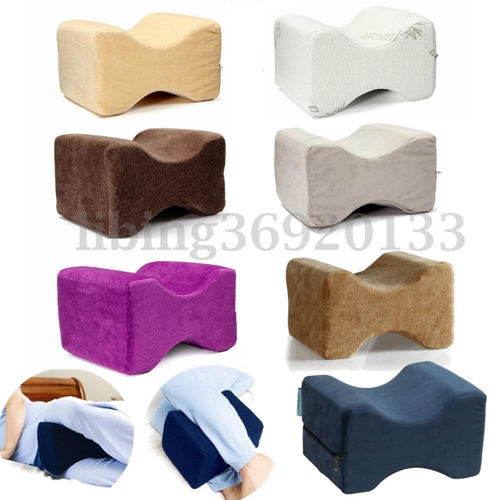 Memory Foam Knee Leg Wedge Pillow Back Bed Cushion Pain