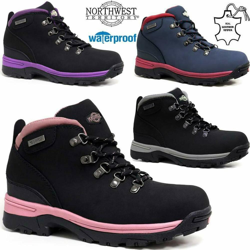 WOMENS LADIES WALKING LEATHER HIKING WATERPROOF ANKLE BOOTS TRAINERS SIZE 3-8