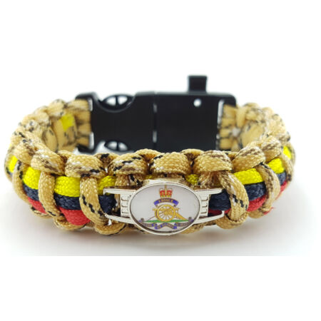 img-Royal Artillery Badged Paracord Bracelet
