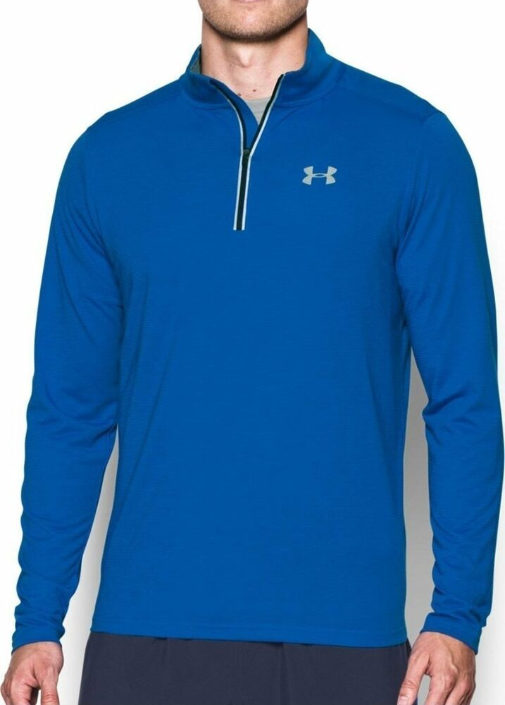4069c4c7a9d Details about UNDER ARMOUR MENS UA STREAKER RUNNING 1 4 ZIP SHIRT BLUE   1271851-NWT