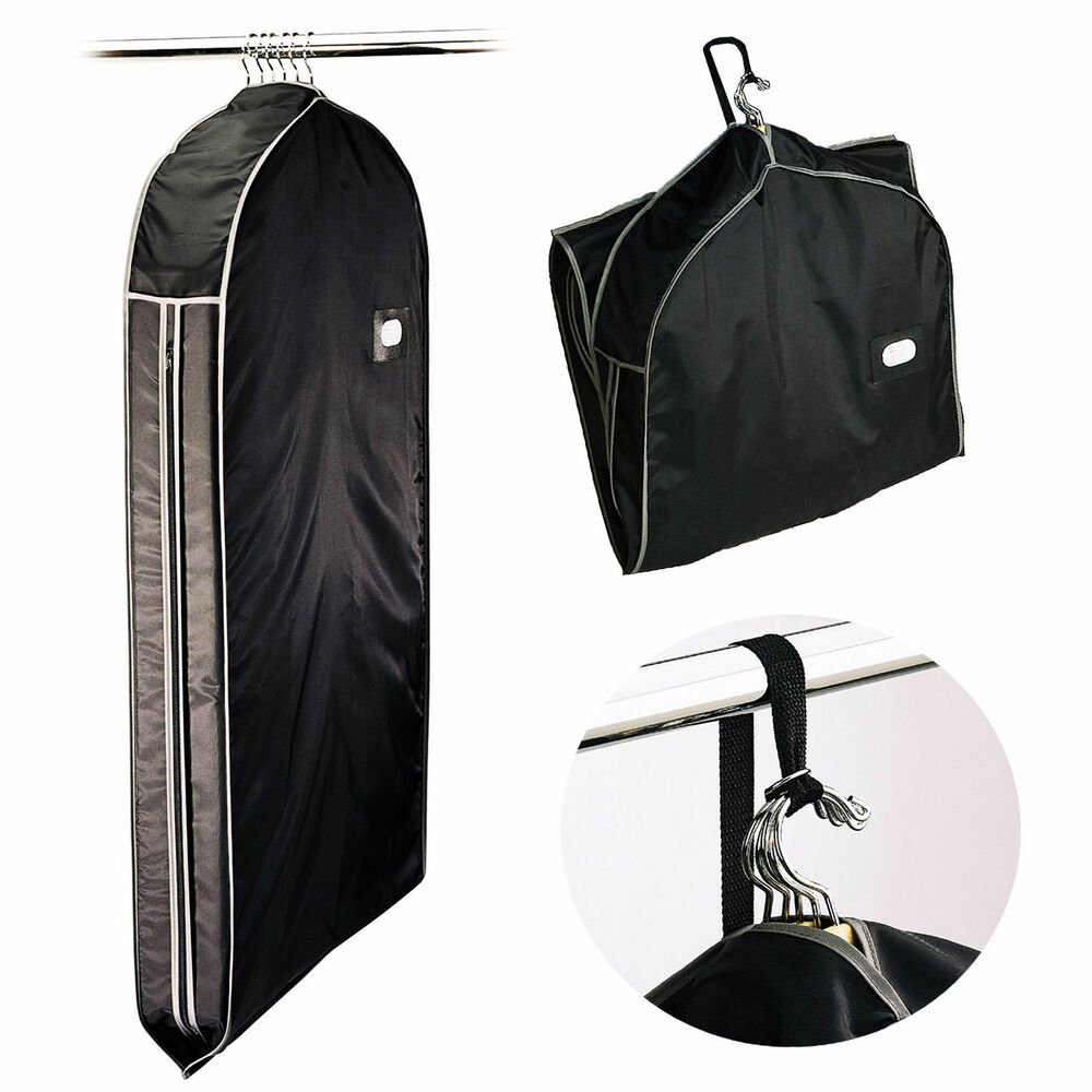 Nylon Zippered Travel Garment Bag Carry Suits Dresses