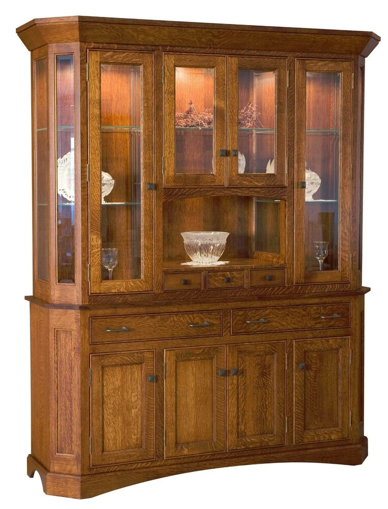 Amish Albany Dining Room Hutch Arts Amp Crafts China Cabinet