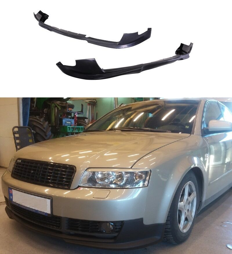 FOR 02-05 AUDI A4 B6 EURO STYLE PU BLACK ADD-ON FRONT