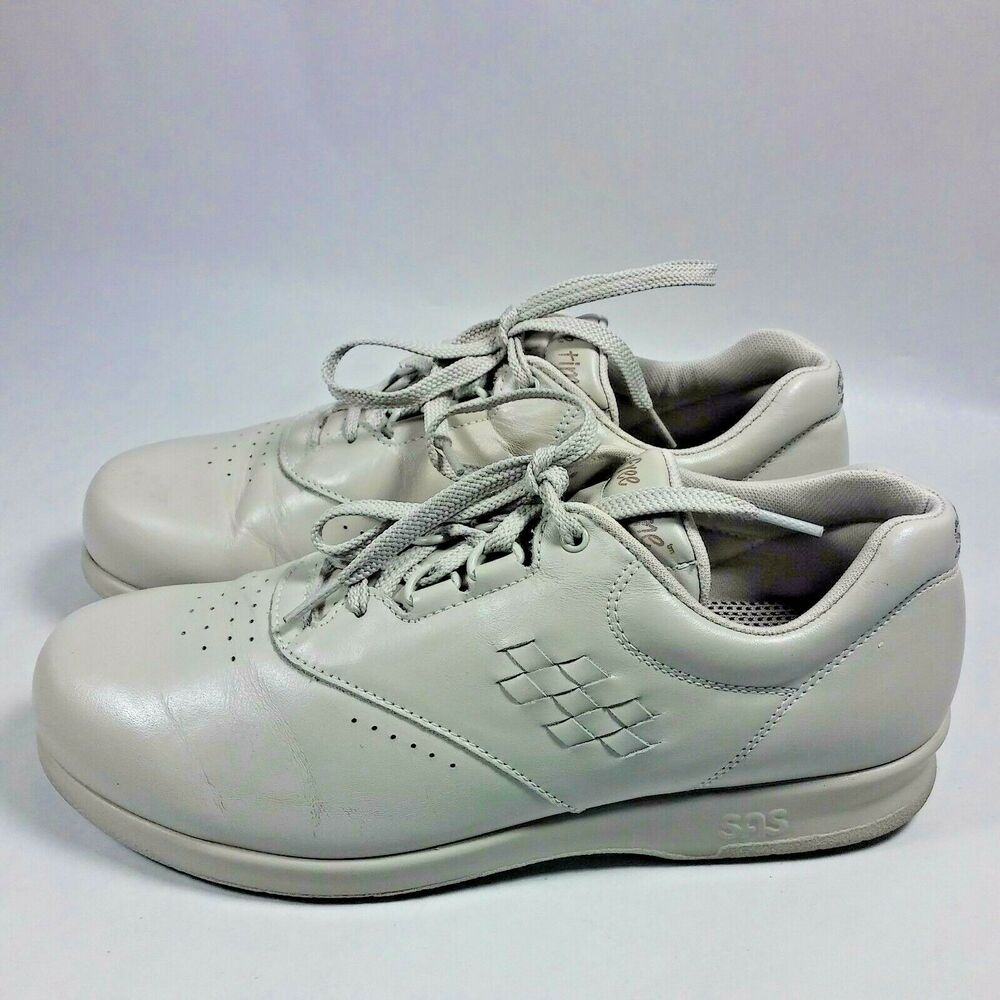 s sas free time comfort walking shoes beige leather