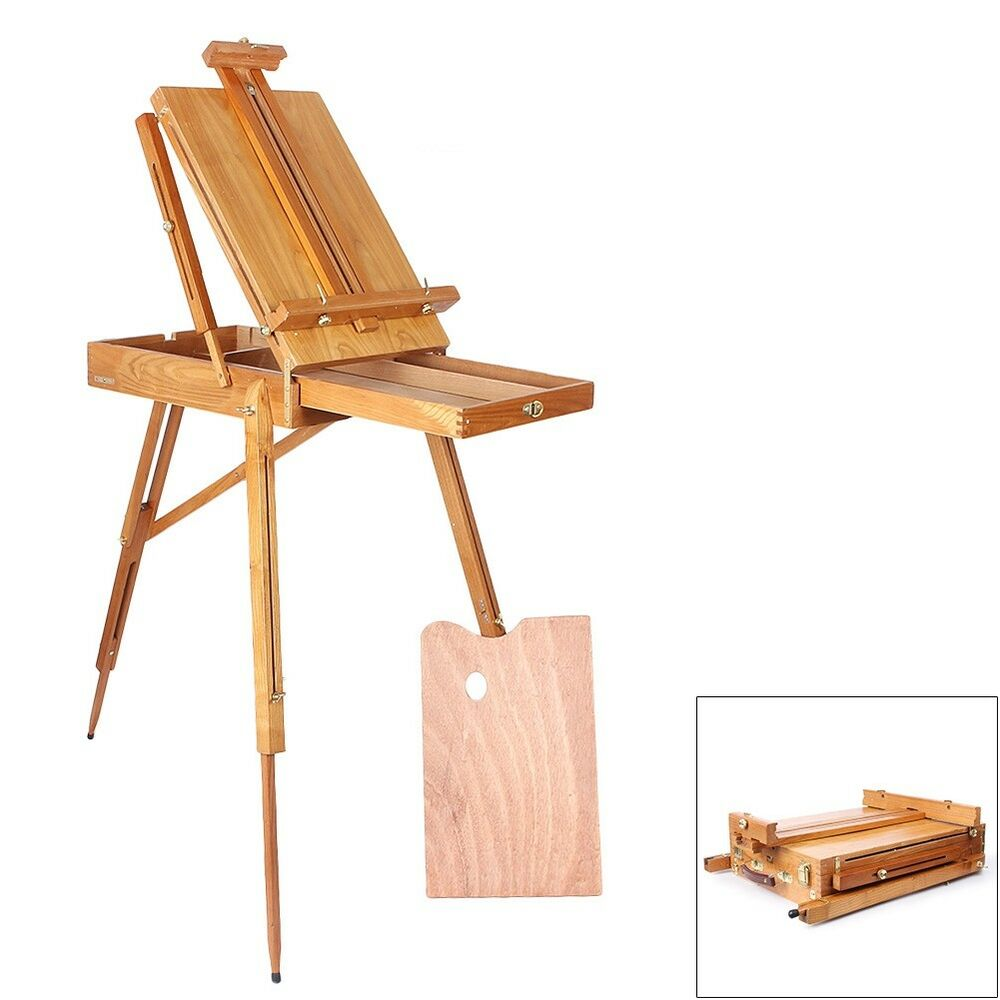 French easel wooden sketch box portable folding durable for Ptable french