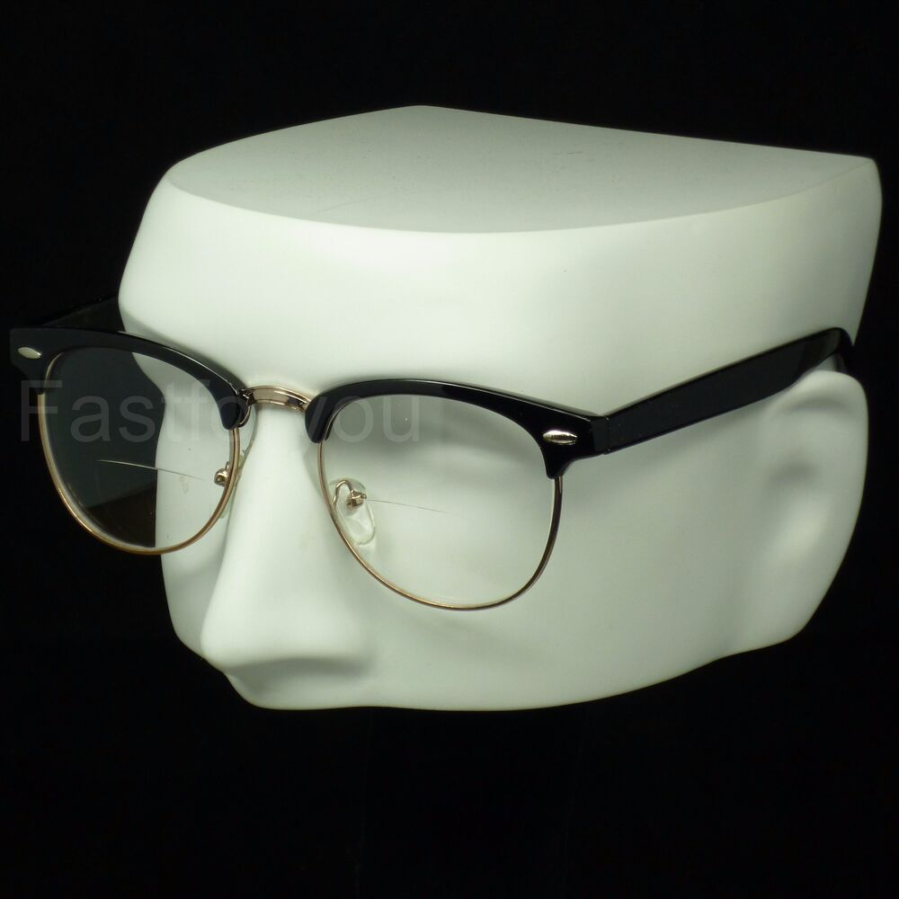 bifocal reading glasses clear lens vintage retro style new