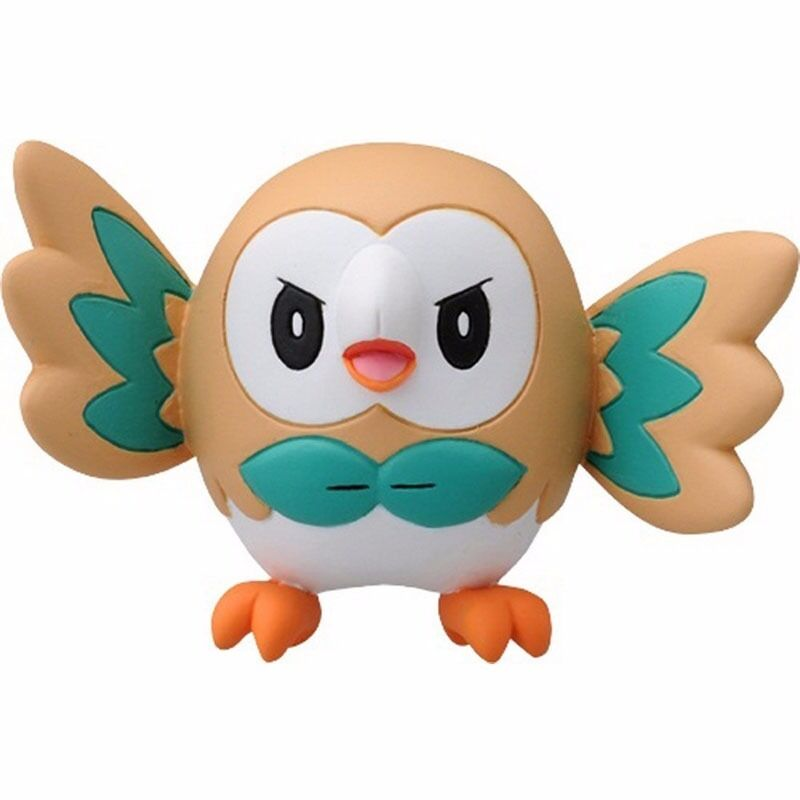 Rowlet Pokemon Go Action Figure Pocket Monster Collection Ex Xy Toy