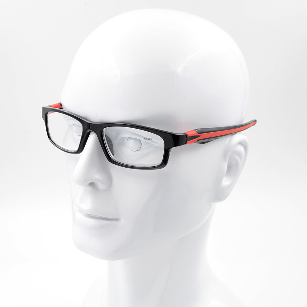 7b4a50acef1 Details about Sport Style Eyeglasses Frame Silicone Temple Reading Glasses  Reader +1.00~+4.00