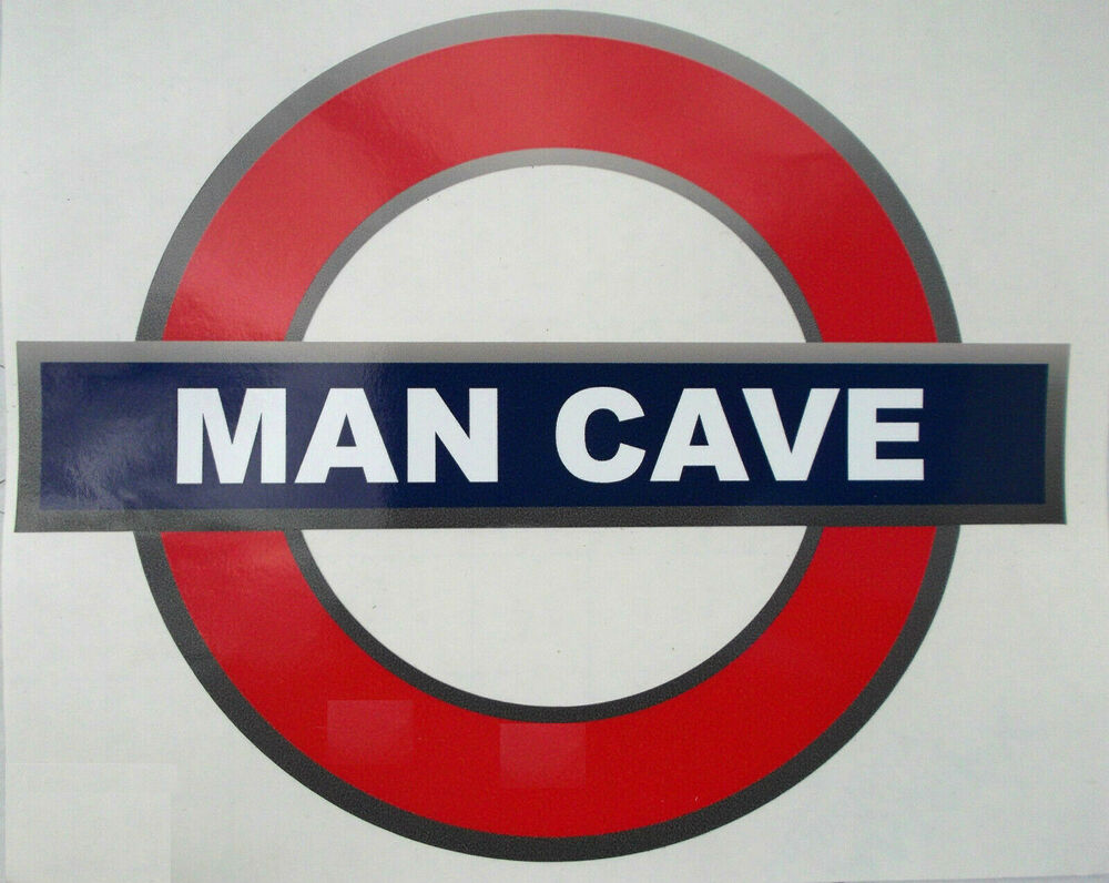 Man Cave Signs To Buy : Tube style room station sticker sign man cave