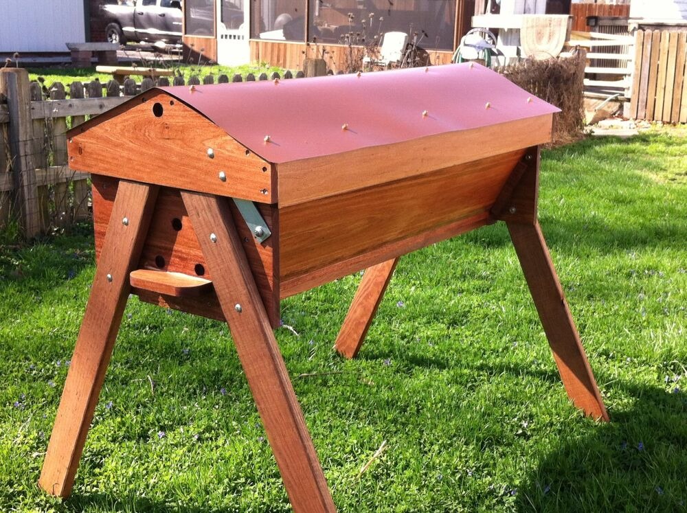 Classic Copper PennyTop Bar Garden Beehive Kit beekeeping ...